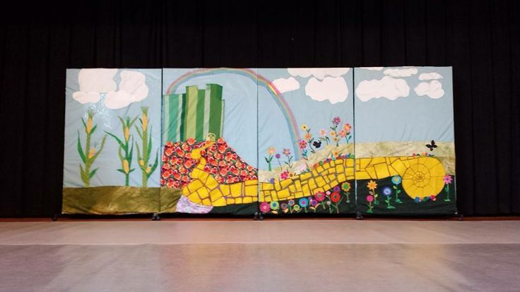 Wizard of oz backdrop for ballet costumes pinterest
