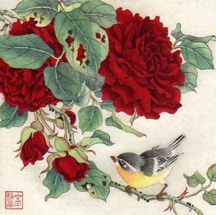 """Splendid Roses"" - Original Fine Art for Sale - © Jinghua Gao Dalia"