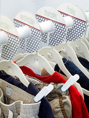 Closet Organization--days of week, sizes or seasons...great ideas!