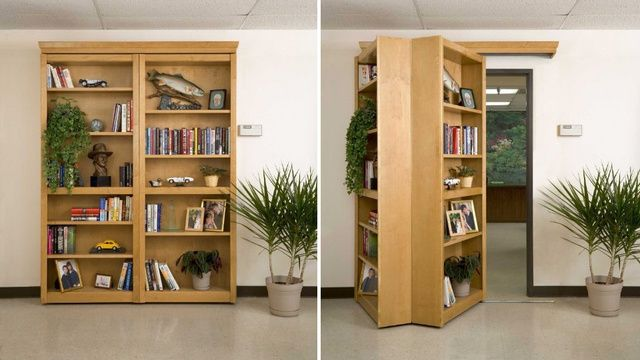 Straight out of an Indiana Jones movie: the bookshelf that hides a secret passageway