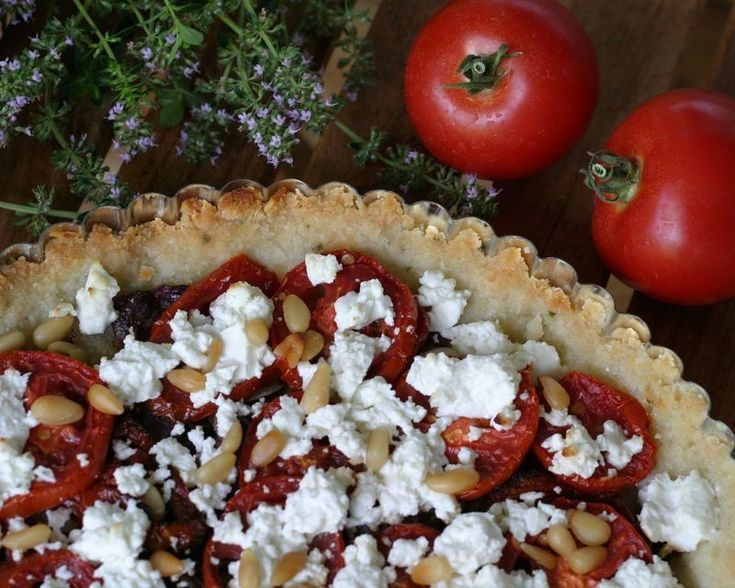 Caramelized Onion, Tomato, Goat Cheese Tart (use an SCD legal cheese ...
