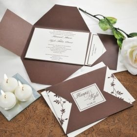 Brown & Ivory Vintage Invitations Kit