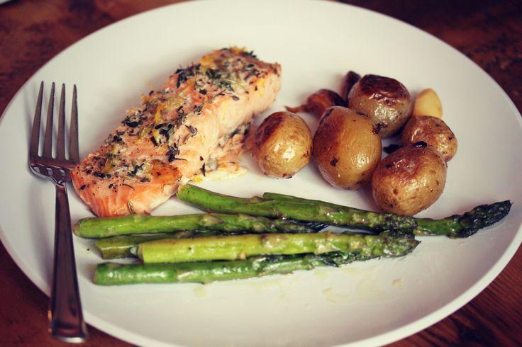 Beginner's Salmon: Lemon Butter & Thyme | food : healthy | Pinterest