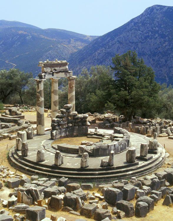 Tholos, Delphi, Greece  HIS handiwork!  Pinterest