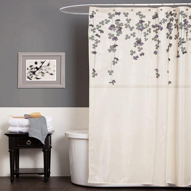 Grey Bathroom. Love The Shower Curtain.