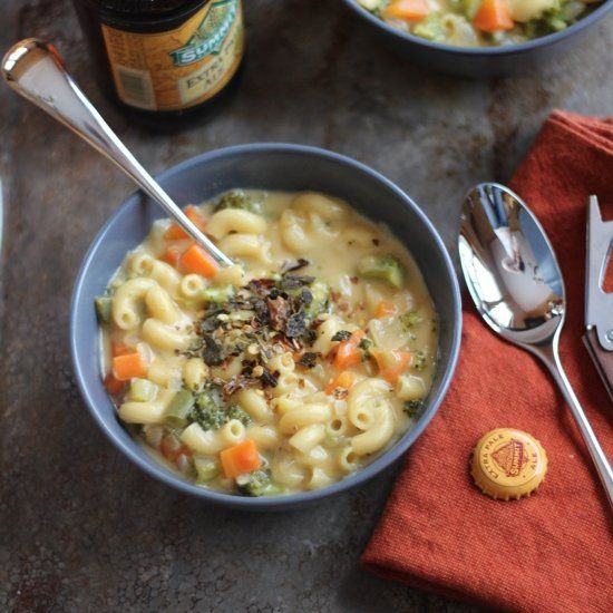 Beer Mac N Cheese Soup Recipe — Dishmaps