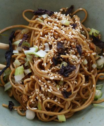 Soba salad with miso dressing | Eastern Eating | Pinterest