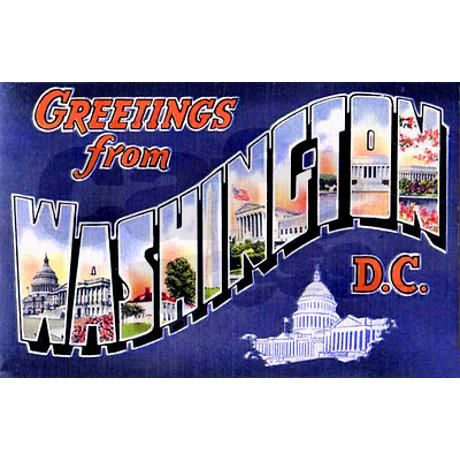 Washington, D.C. Greetings Postcards (Package of 8 on CafePress.com