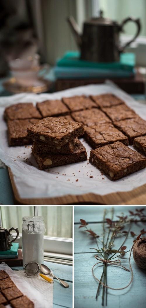 amp hazelnut brownie pudding divine chocolate spiced hazelnut ...