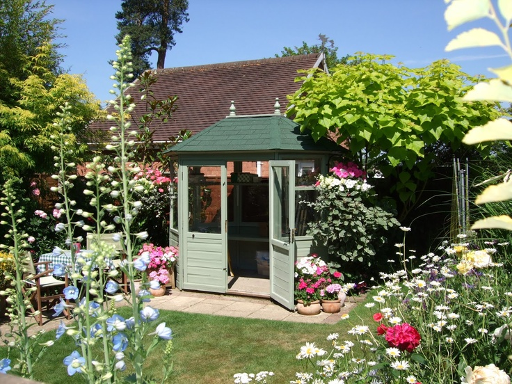 Pretty summerhouse summerhouses garden rooms and sheds for Pretty garden sheds