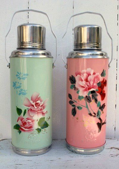 Shabby Chic ♥ Floral Thermos