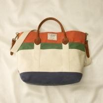Color-Blocked Tote Bag