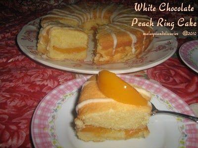 White Chocolate Peach Ring Cake | YumYum | Pinterest