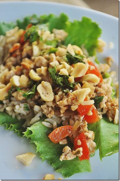 Thai Basil Turkey Lettuce Wraps Recipe — Dishmaps