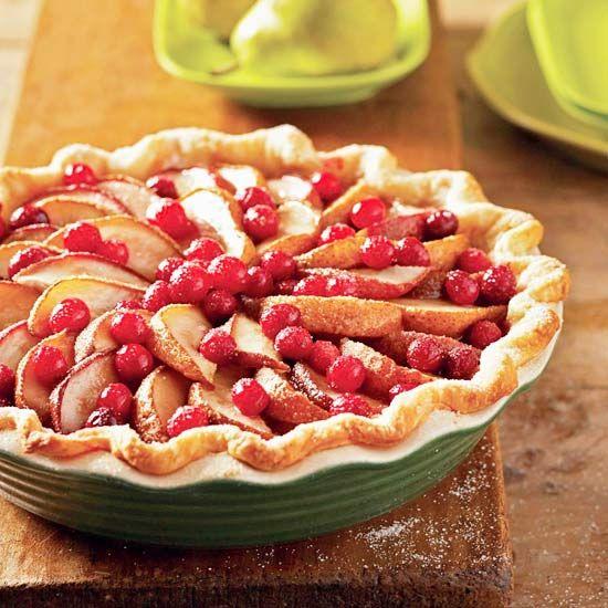 Fresh Pear and Cranberry Pie bhg.com