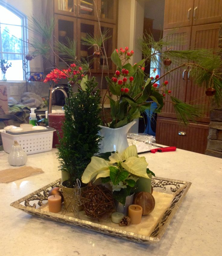 kitchen island christmas centerpiece christmas pinterest