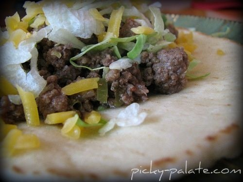 Crock Pot Beef Tacos In Soft Tortilla Bread Note:added black beans ...