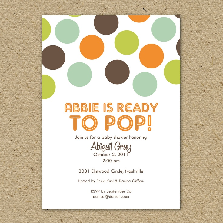 mom is ready to pop baby shower or birthday party invitation baby boy