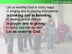 Psalm 100, A Call to Worship