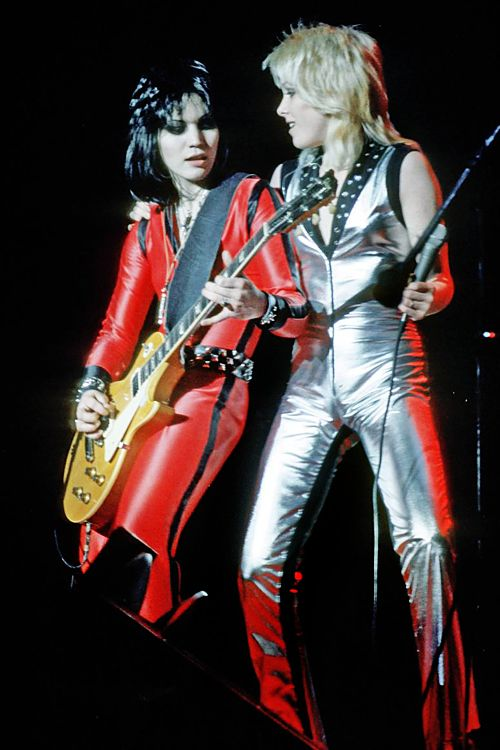Joan Jett and Cherie Currie, 1977