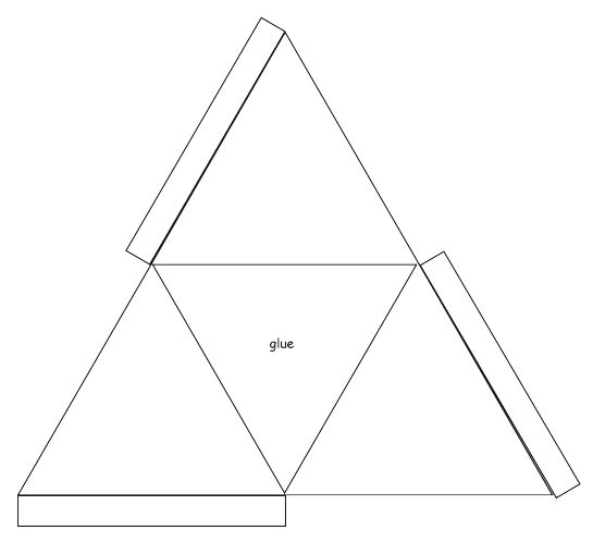triangle shape template printable