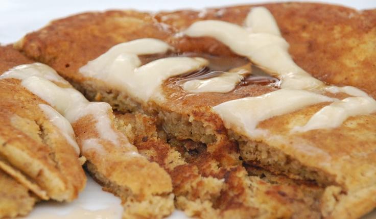 CupCakes and CrabLegs: Pumpkin Cinnamon Roll Pancakes