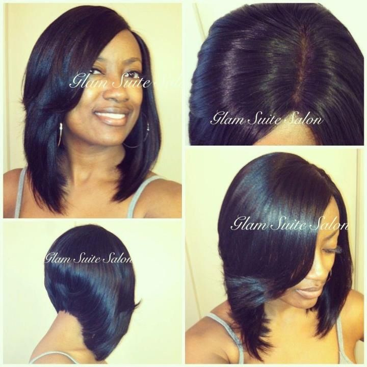 Sew In Bob w/Lace Closure Nice Bob! and very well done!