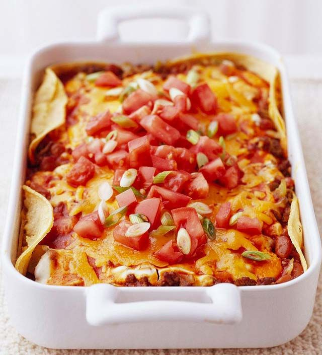 Bean and Beef Enchilada Casserole from the Better Homes and Gardens ...