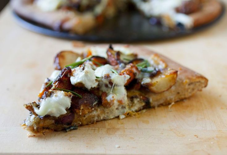 Roasted Winter Vegetable and Ricotta Pizza