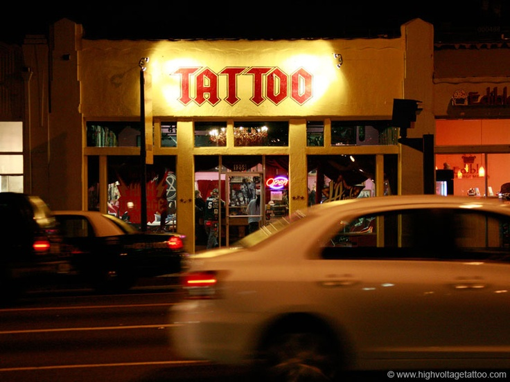 Kat von d 39 s high voltage tattoo of la ink fame at for My tattoo shop hollywood