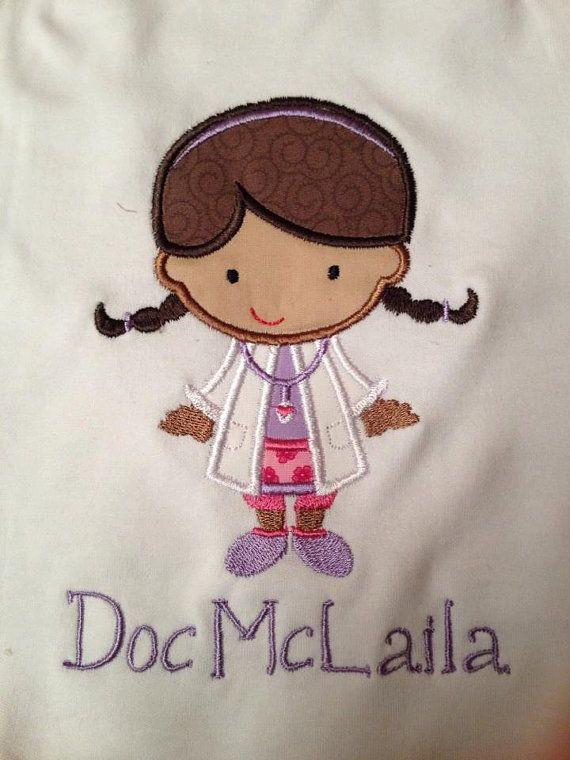 Doc McStuffins Iron On Applique with Name - Pinterest