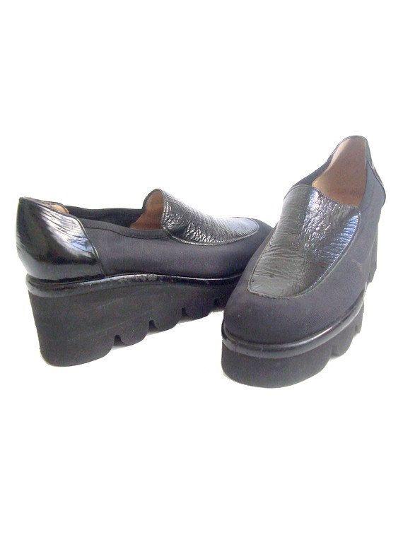 us 7.5 90s platform shoes FONTENEAU made in by lesclodettes, $59.00