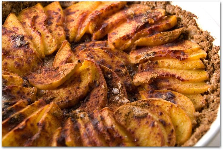 peach tart with pecan gingersnap crust + we're off! | The Road Forks ...