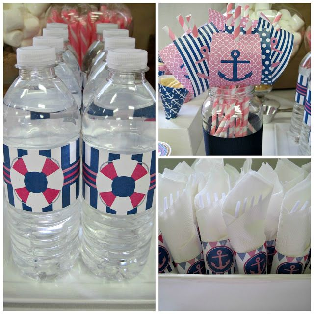 anchors away nautical baby girl shower shower ideas pinterest