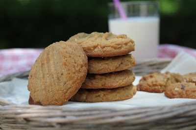 The Devil's Food Advocate: Cashew Butter Cookies with Toffee Chips