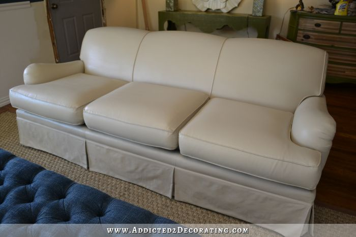 painted upholstered sofa