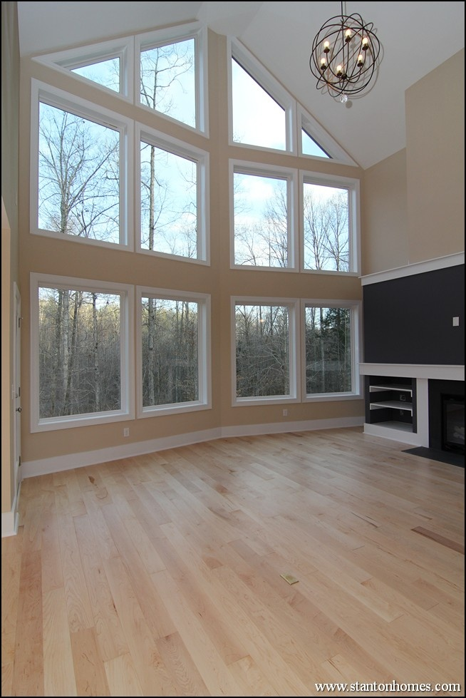 Great Room With Full Wall Of Windows Great Rooms