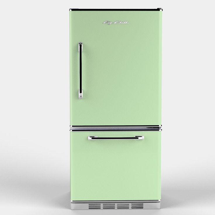 refrigerator in jadeite green a retro styled modern appliance