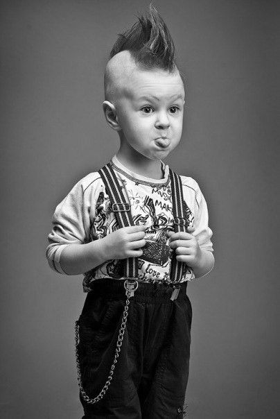 Punk Rock Baby... yup, that'll be my kid if i had one,LOL