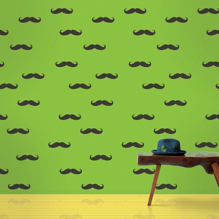 Mustache Removable Kids Wallpaper