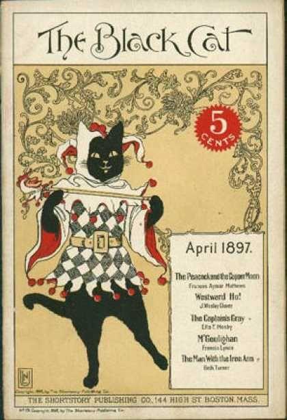 """The Black Cat"" magazine cover - April 1897"