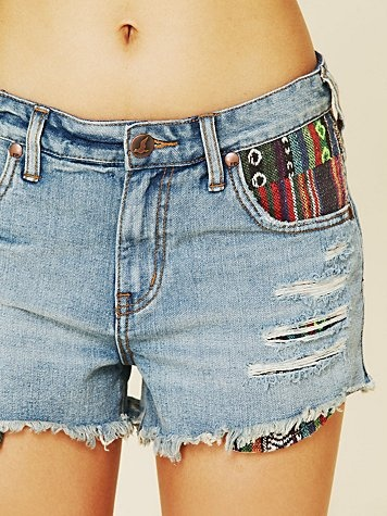 After trying the Rugged Ripped Baja Denim Shorts by Free People on, I had to buy them.