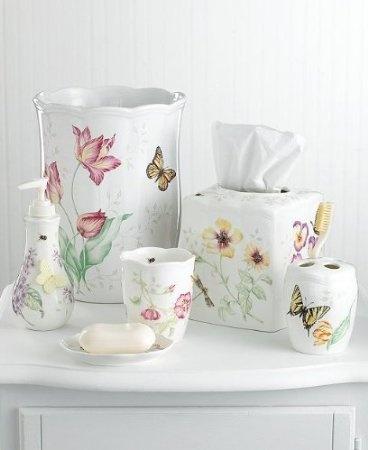 Butterfly bath accessories bathroom decor pinterest