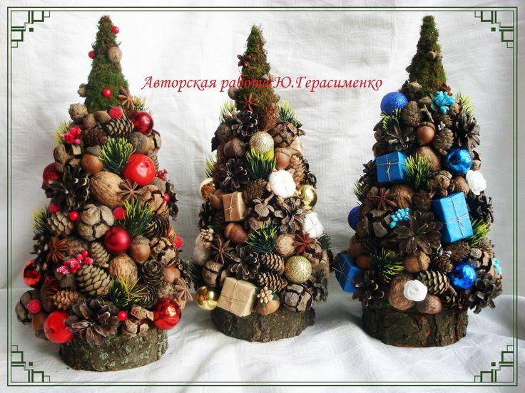 Топиарий своими руками новогодние елочки