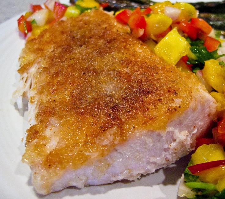 Seared Panko Crusted Mahi Mahi with Mango Salsa | The Spiced Life ...