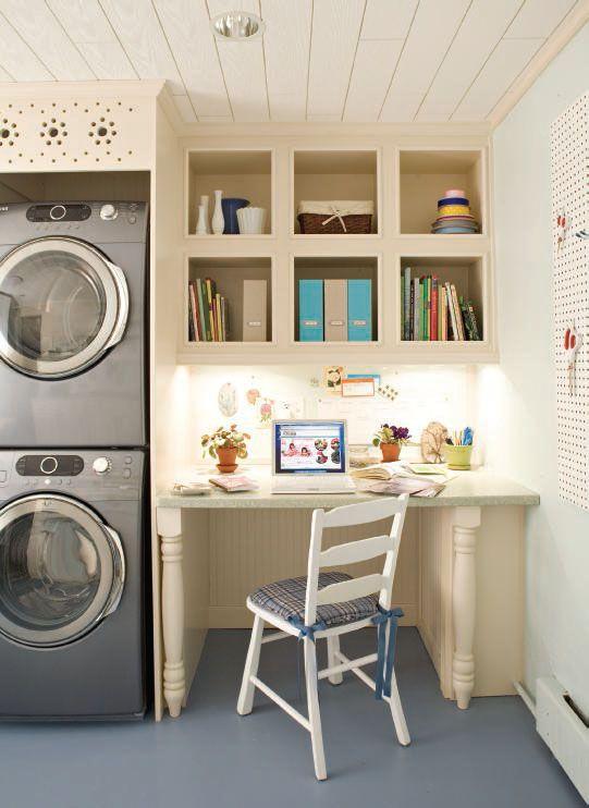 desk in laundry room dream house pinterest