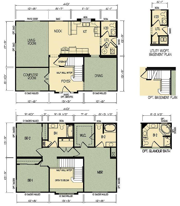 Michigan Modular Home Floor Plan 5624 Architecture