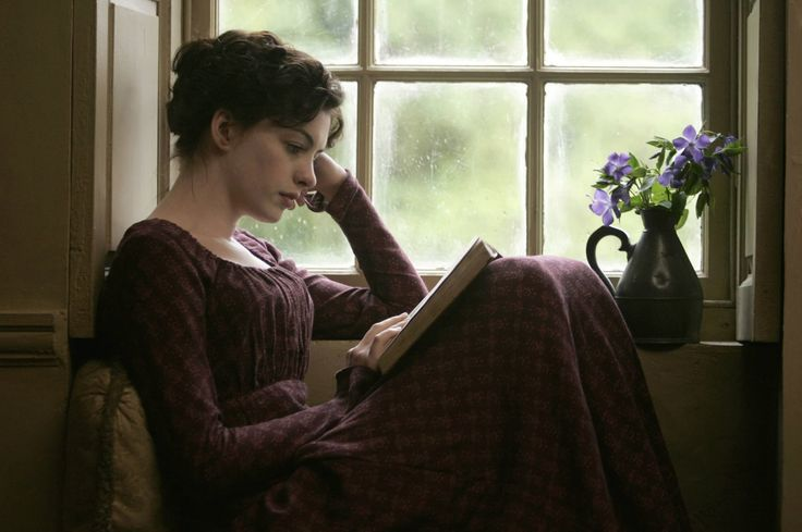 Ann Hathaway as Jane Austen in Becoming Jane.