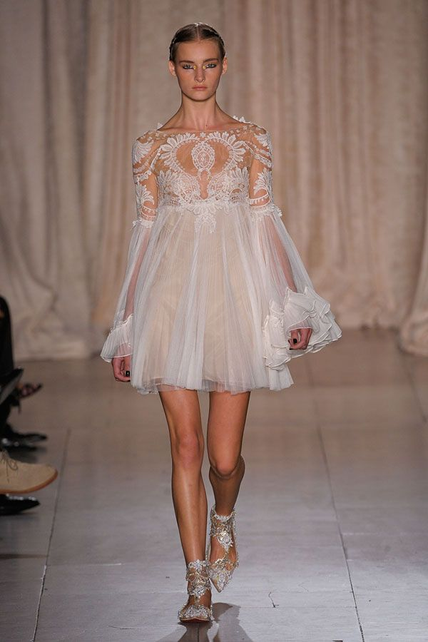 White lacy dress. Marchesa Spring 2013 #fashion