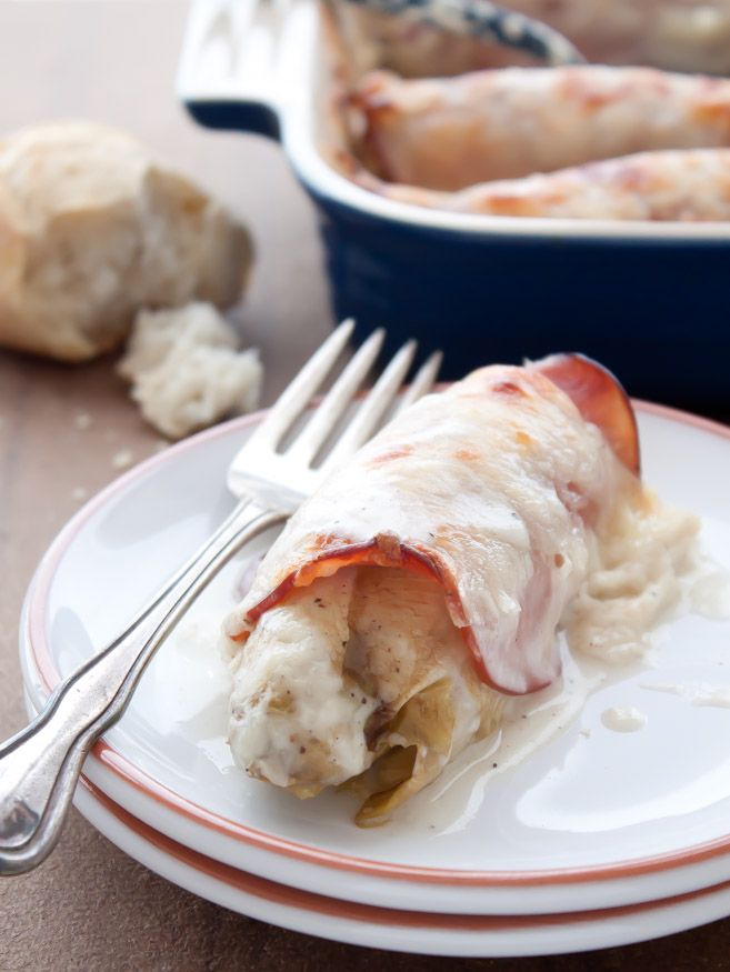Dinner for Two: Endive Gratin with Ham and Gruyere. French made easy!